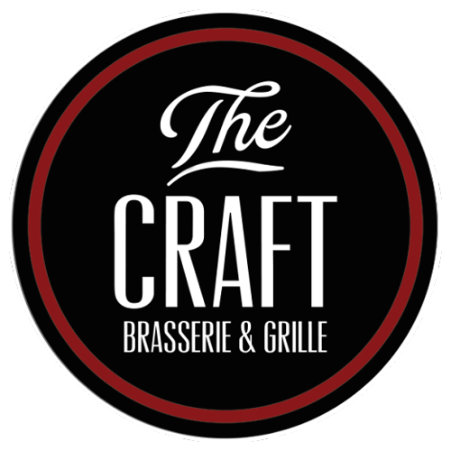 Word art logo for the craft brasserie and grille